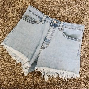 Just USA High Waisted Cut Off Jean Shorts